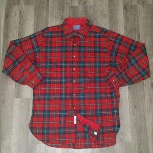 Vintage PENDLETON Men's L Wool Lodge Shirt Plaid